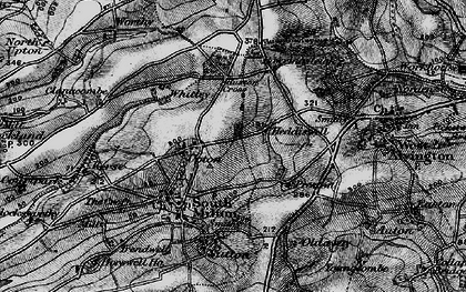 Old map of Worthy in 1897