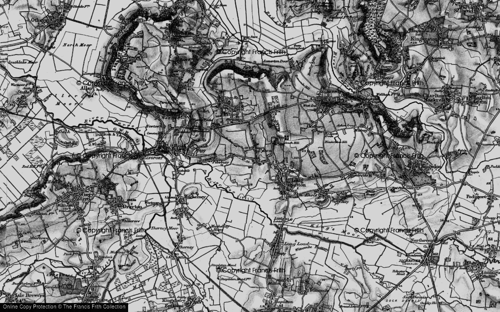 Old Map of Upton, 1898 in 1898