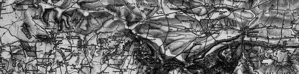 Old map of Willoughby Hedge in 1898