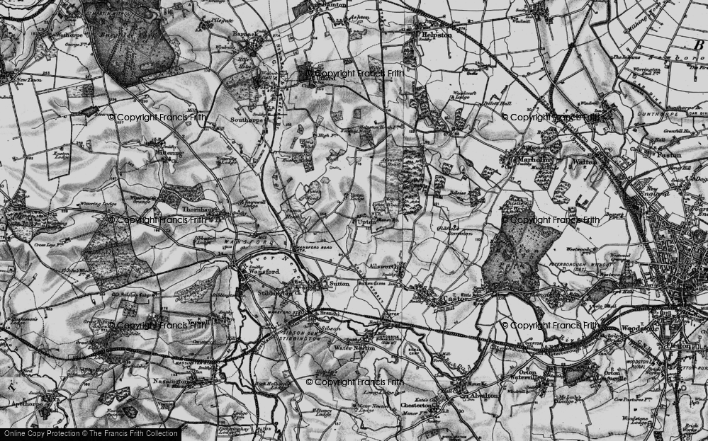 Old Map of Historic Map covering Ailsworth Heath in 1898