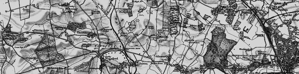 Old map of Ailsworth Heath in 1898