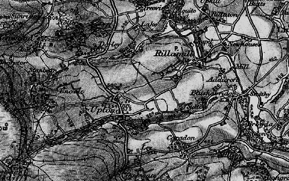 Old map of Upton Cross in 1895