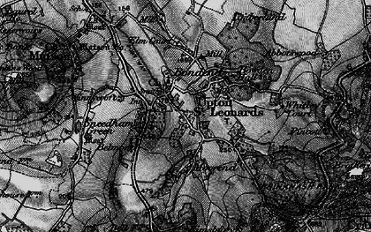 Old map of Whitley Court in 1896