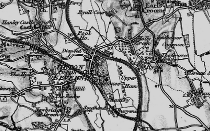 Old map of Upton upon Severn in 1898
