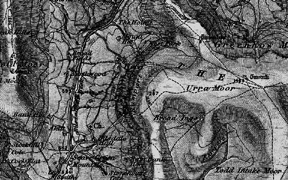Old map of Todd Intake Moor in 1898