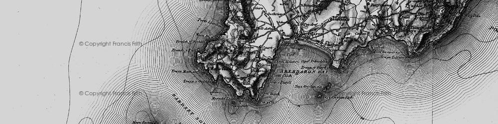 Old map of Tir Glyn in 1898