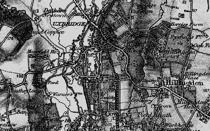 Old map of Uxbridge in 1896