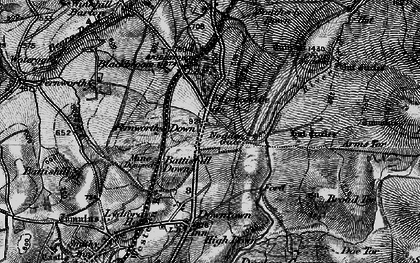 Old map of Widgery Cross in 1898