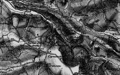Old map of Vale of Lanherne in 1895