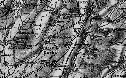 Old map of Valley Truckle in 1895