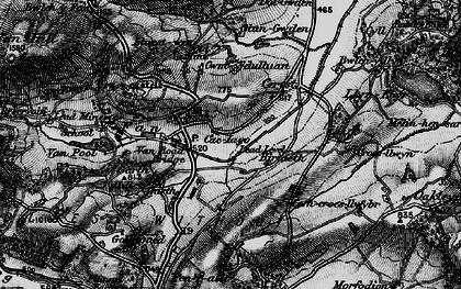 Old map of Y Fan in 1899