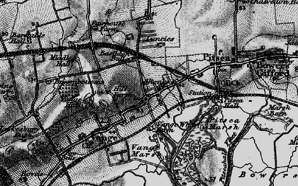 Old map of Vange in 1896