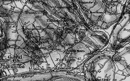 Old map of Varfell in 1895