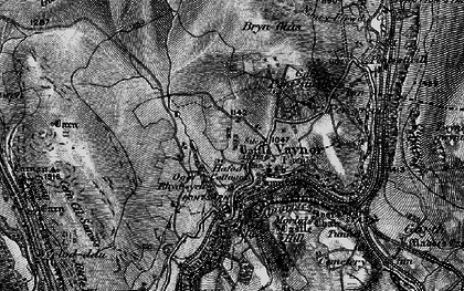 Old map of Vaynor in 1898