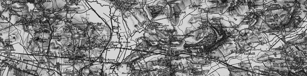 Old map of Nunnington in 1898