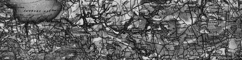 Old map of Velindre in 1898