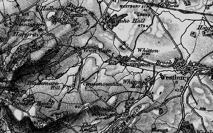 Old map of Whitton Hall in 1899