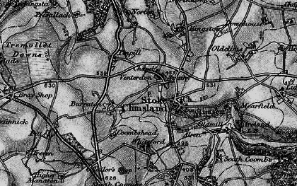 Old map of Venterdon in 1896