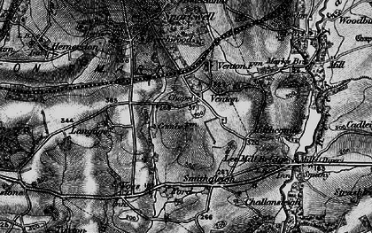 Old map of Langage in 1898
