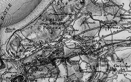 Old map of Ventonleague in 1896