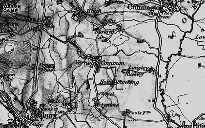 Old map of Langley in 1899