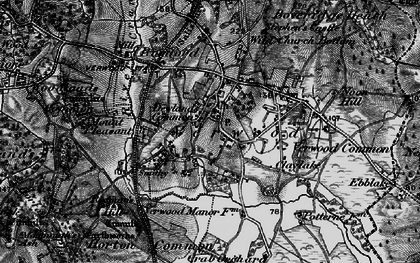 Old map of Verwood in 1895