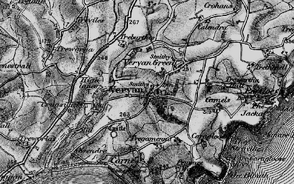 Old map of Veryan in 1895