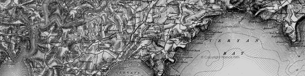 Old map of Veryan in 1895