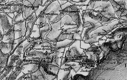 Old map of Veryan Green in 1895