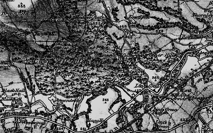Old map of Victoria Garesfield in 1898