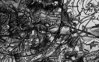 Old map of Virginia Water in 1896