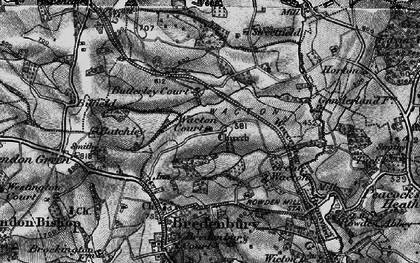 Old map of Wiggall in 1899