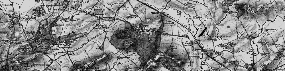 Old map of Waddesdon in 1896