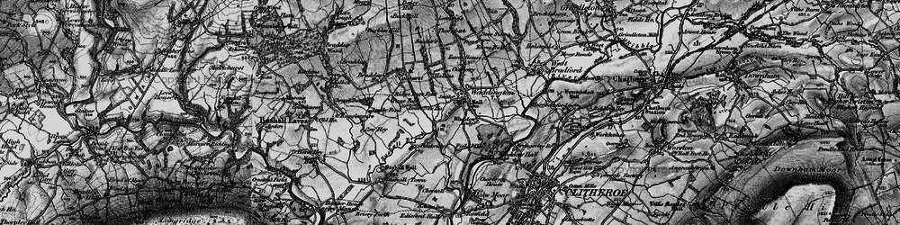 Old map of Waddington in 1898