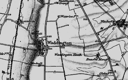Old map of Waddington in 1899