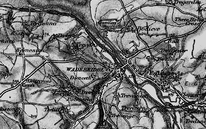 Old map of Wadebridge in 1895