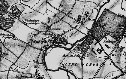 Old map of Aldwincle Lodge in 1898