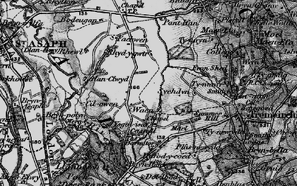 Old map of Waen Goleugoed in 1897