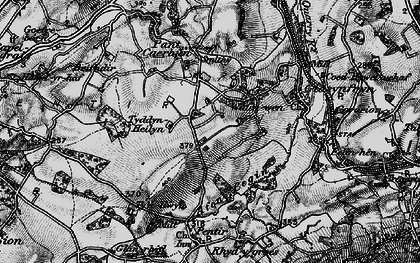 Old map of Afon Cegin in 1899