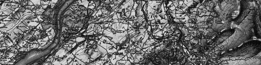 Old map of Afon Cegin in 1899