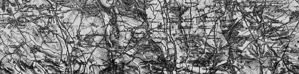 Old map of Tittensor Chase in 1897