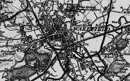 Old map of Wakefield in 1896
