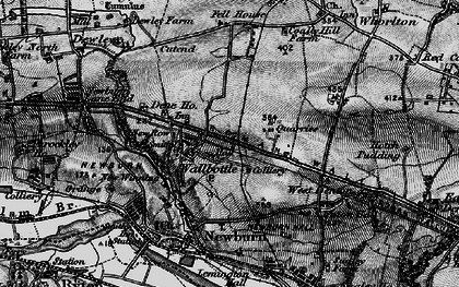 Old map of Walbottle in 1897