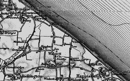 Old map of Walcott in 1898