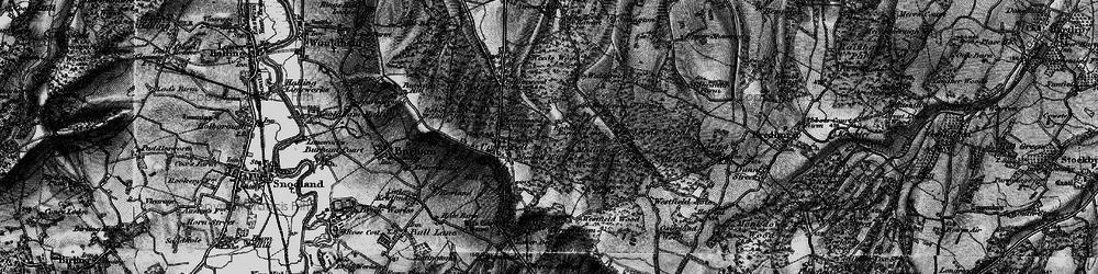 Old map of Walderslade in 1895