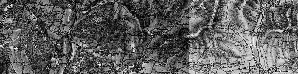 Old map of Woodlands Cotts in 1895