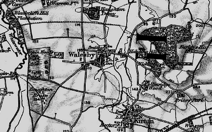 Old map of Whitewater in 1899