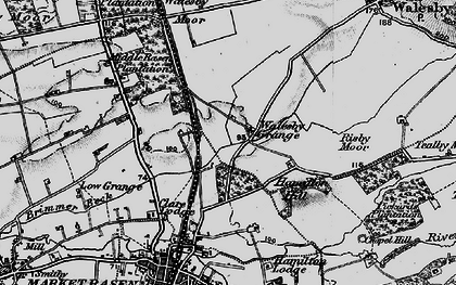 Old map of Willingham Forest in 1899