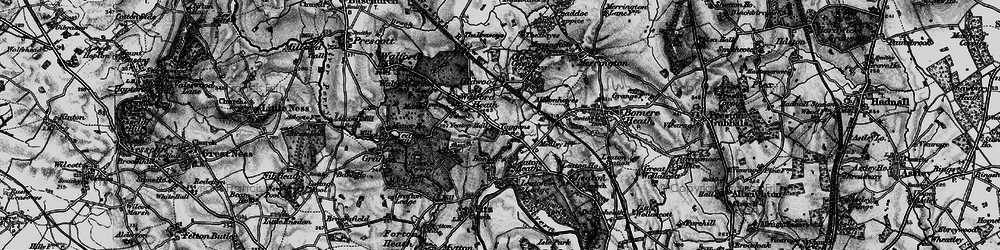 Old map of Old Woods in 1899