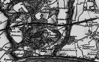 Old map of Walkford in 1895